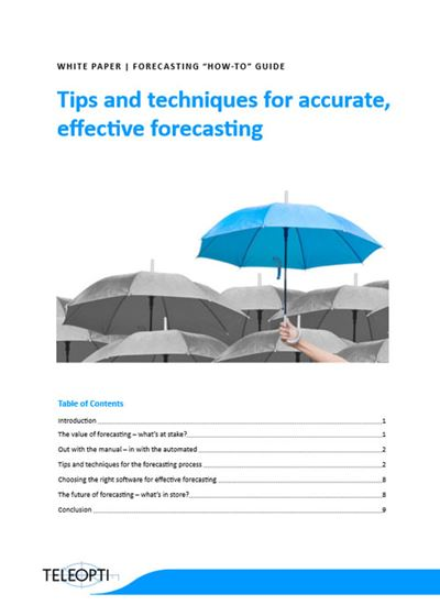 Tips and techniques for accurate, effective forecasting